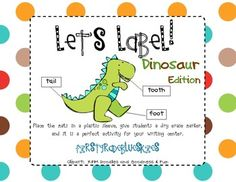 What a fun edition to your dinosaur unit!  Included are: 27 color labeling mats, 11 B