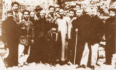 Wang Xiangzhai with fellow martial masters and students.