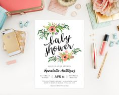 Printable  Sweetest Shower Baby Shower by fineanddandypaperie