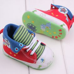 Awesome 2017 Cute Cartoon Printed Baby Kids High Shoes Casual Anti-Slip Toddler Walk Sneaker - $ - Buy it Now!