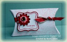 Bella Toile Pillow Box:   Cute & Curly stamp & Label Punch, Boho Punch