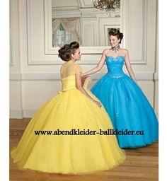 A Linie Abend - Ballkleid Brautkleid in Blau oder Gelb