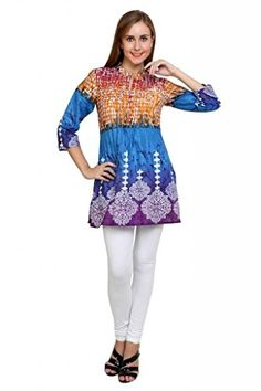 Anekaant Womens Cotton Printed 34th Sleeve Kurti XXXLarge Multicoloured -- Find out more about the great product at the image link-affiliate link