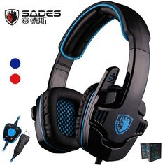 Buy US $37.99  Sades SA901 SA-901 Gaming Headset 7.1 surround USB Headphone with Microphone Noise Cancelling Mic for Computer Laptop PC Gamer   Provide product: Xiaomi