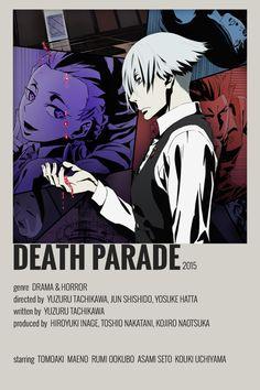 Death Parade, Otaku Anime, Manga Anime, Poster Anime, Anime Suggestions, Anime Titles, Anime Reccomendations, Anime Watch, Japon Illustration