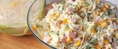 Majonézes káposztasaláta sonkával és kukoricával: könnyed, tavaszi főétel is lehet - Receptek | Sóbors Potato Salad, Grains, Rice, Potatoes, Favorite Recipes, Ethnic Recipes, Food, Potato, Essen