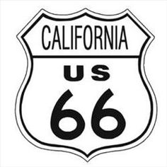 Vintage Metal Route 66 - California Sign
