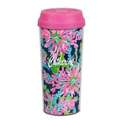 Lilly Pulitzer - Thermal Mug - Navy Trippin and Sippin