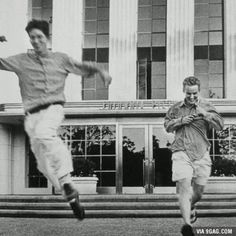 Wes Anderson and Owen Wilson exiting Columbia Pictures offices after signing deal to make Bottle Rocket, November 1994