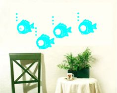 Various Color Fish Swimming Decor Mural Art Wall Sticker Decal WY647 | eBay