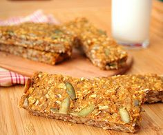 Pumpkin Spice Seed Bars (Low Carb and Gluten Free)-These were an excellent breakfast with a smear of peanut butter on top.  Peanut butter and pumpkin go surprisingly well together!