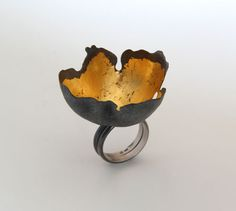 Random Processes, ring, 2013, silver, patina, leaf gold, 45 mm Nikolai Balabin.