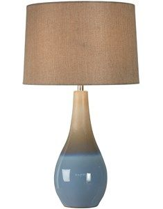 Feel like you are at the beach with Marcin Ombre Coastal Blue Table Lamp with Shade Half glaze dipped effect table lamp base with a textured tapered cylinder shade. Coastal blue and natural ceramic table lamp with a textured cylinder lampshade. H:58cm x W:41cm. #TableLamp