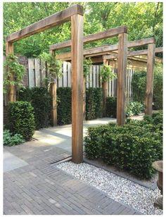 Diy Pergola, Wood Pergola, Pergola Garden, Diy Garden, Garden Cottage, Pergola Plans, Outdoor Pergola, Garden Paths, Pergola Lighting