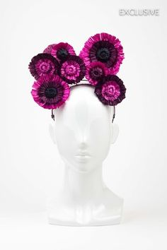 Amazing floral headband handmade made from raffia straw by Love Lotus Millinery. Great for Spring Racing