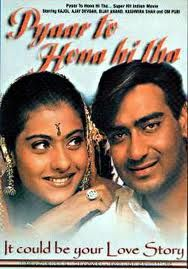 Pyaar To Hona Hi Tha (Love Had to Happen)  This movie came out in 1998 I believe.  It is a very cute movie and I enjoyed watching it.