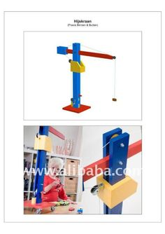 DIY Wooden toy crane:easy to assemble by kids and/or parents