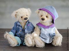 Teddy Bears handmade.  Fair Masters - handmade.  Buy Jeans couple Teddy bears.  Handmade.