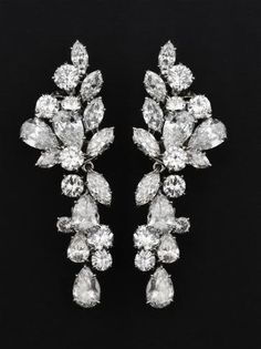 Diamond earrings belonging to  HSH Princess Grace