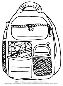 Printable backpack activity for younger kids to practice writing their name, address and phone number