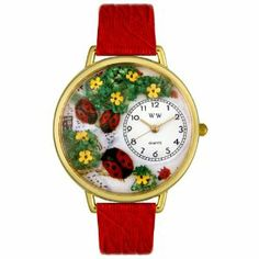 Whimsical Watches Women's G1210004 Lady Bugs Red Leather Watch Whimsical Watches. $38.04