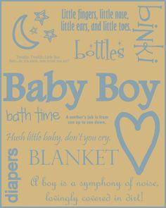 baby shower boy sayings favors | via carol wasylenko