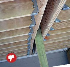 Avoid these common deck-building problems by implementing these simple solutions. Learn more about build a longer-lasting, safer deck. Deck Building Plans, Deck Plans, Building A House, Barn Plans, Building Ideas, Laying Decking, Decking Area, Cool Deck, Diy Deck