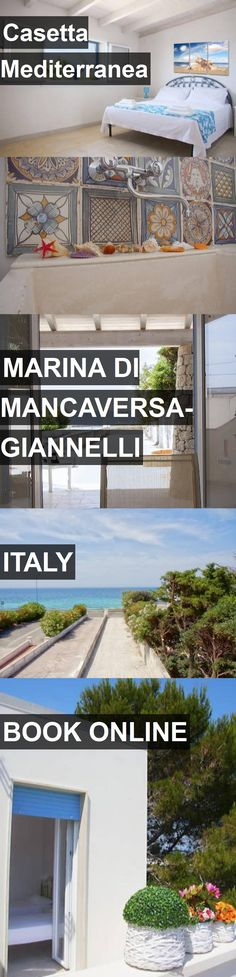 Hotel Casetta Mediterranea in Marina di Mancaversa-Giannelli, Italy. For more information, photos, reviews and best prices please follow the link. #Italy #MarinadiMancaversa-Giannelli #travel #vacation #hotel