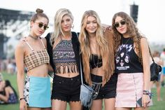 ELLE.com photographer Tyler Joe captures the chicest street style moments from Coachella.