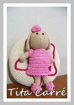 Tita Carré  Agulha e Tricot : Coelha Belinha em crochet