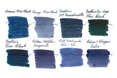 Looking for a new Blue-Black ink for your fountain pen? Try an ink sample package! This set includes 2ml samples of 8 of our most popular blue-black fountain pen ink colors. Including Diamine Blue-Black, Lamy Blue/Black, Noodler's 54th Massachusetts, Noodler's Air-Corp Blue Black, Noodler's Blue-Black, Pelikan Edelstein Tanzanite, Pilot Iroshizuku Shin-kai, and Rohrer & Klingner Salix (iron gall).