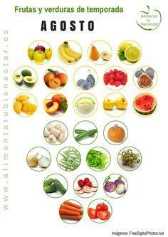 Frutas y verduras de temporada para cada mes del año