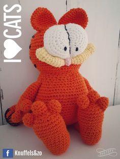 Garfield! Gemaakt voor mijn lieve zoon. Patroon is van mijn lieve nichtje van Haakhooked.blogspot