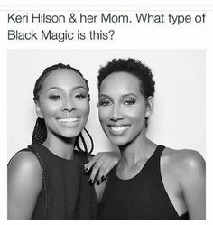 """ melanoticperfection: "" thechanelmuse: "" melanin-wanderer: "" Keri Hilson and her Mom… HOW? "" I thought that was her sister "" Because black. Black Girls Rock, Black Girl Magic, Keri Hilson, By Any Means Necessary, Black Celebrities, Celebs, Famous Celebrities, My Black Is Beautiful, Beautiful People"