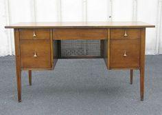 1960s Broyhill Brasilia Desk vanity mid by OnVintageFurniture, $900.00