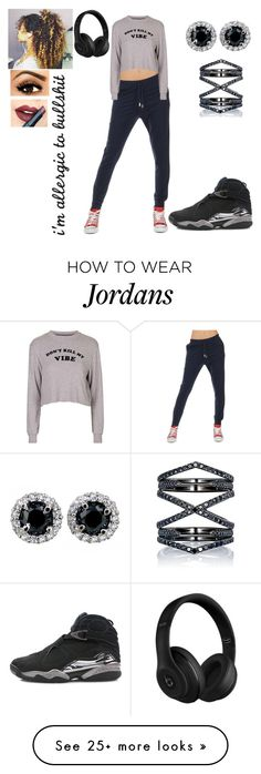 """""""Just chillin"""" by melodey27 on Polyvore featuring Jijil, Topshop, NIKE, Fiebiger, Beats by Dr. Dre, Eva Fehren, women's clothing, women, female and woman"""