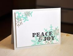 Peace & Joy Card by Maile Belles for Papertrey Ink (September 2012)