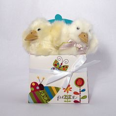 Fuzzy Quakers and Ladybug Easter Gift Bag at LadybugGiftStore.com