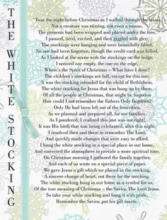 The White Stocking Poem