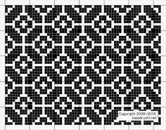 "Photo from album ""Филейные схемы"" on Yandex. Motif Fair Isle, Fair Isle Chart, Fair Isle Pattern, Knitting Charts, Knitting Stitches, Knitting Designs, Knitting Patterns, Weaving Designs, Tapestry Crochet"