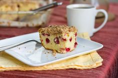 Cranberry Streusel Coffee Cake   PDXfoodlove