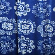 Paratiisin puutarha by Leena Renko Print Fabrics, Prints, Yves Klein Blue, Paradise Garden, Printing On Fabric, Royal Blue, Kids Outfits, Drawings, Pattern