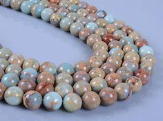 """1038 10mm Serpentine round loose gemstone beads 16"""""""