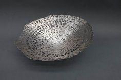 Silberschale aus Feinsilber geschweißt und geschmiedet