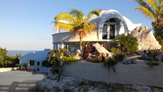 Monolithic Dome Homes This beautiful island paradise dome is located on the island of Eleuthera in the Bahamas and is 32' by 13' with a 10' stemwall. (Ron Canning)