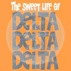 Sorority Style: Delta Delta Delta #custom #Greek #apparel #screenprint #design - Artwork | Explosion Greek Wear