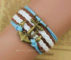 Fashion anchor bracelet, personalized bracelets, beautiful bracelet on Wanelo