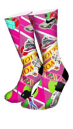 Back to The Future Custom Elite Socks