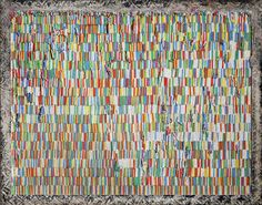 Pascale Marthine Tayou  Chalks and pins N, 2011  Mixed Media: chalks and pins  165 cm x 212 cm x 8 cm