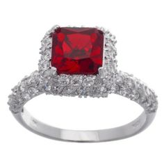Fabulous sterling silver square ruby ring. #anniversary #giftideas